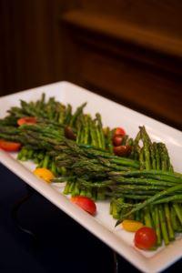 Platter of green beans.