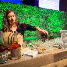 Bourbon poured into a glass