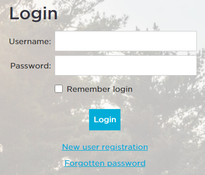 """Screenshot of My Wolf Trap login screen, with a link to """"Forgotten Password"""" at the bottom."""