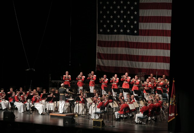 The United States Marine Band on stage at Wolf Trap.