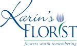 Karin's Florist logo.