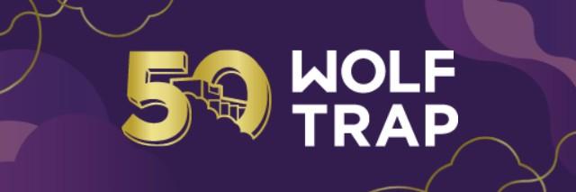 Wolf Trap 50th Anniversary mark.